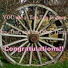 Top Ten Winner - Wagon Wheel by MaryinMaine