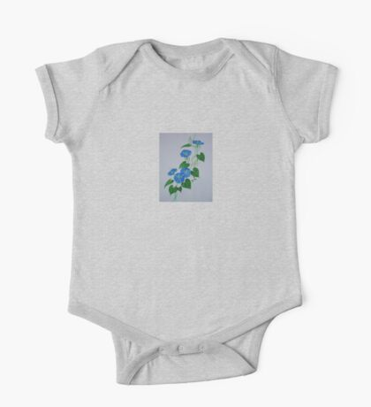 Blue Bindweed One Piece - Short Sleeve