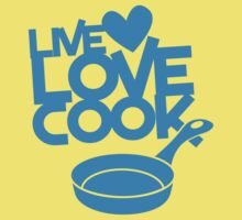 LIVE LOVE COOK with saucepan One Piece - Short Sleeve