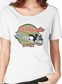 EL PENGUIN - Born to Fly Women's Relaxed Fit T-Shirt