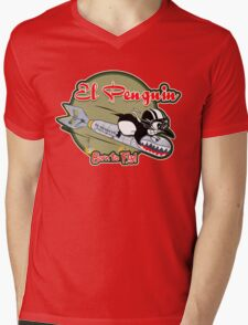 EL PENGUIN - Born to Fly Mens V-Neck T-Shirt