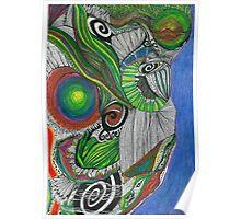 Downward glance of  Maunga Taranaki... Poster