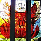 And the Phoenix will Rise Stained Glass by Jane Neill-Hancock