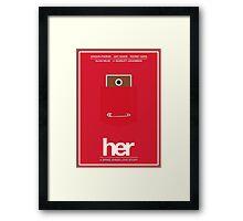 Her film poster Framed Print