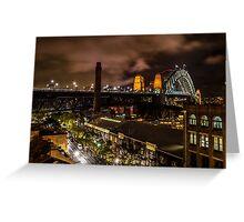 Sydney Harbour Bridge Night View Greeting Card