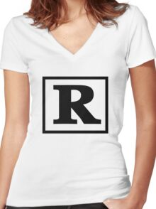 Rated R Women's Fitted V-Neck T-Shirt