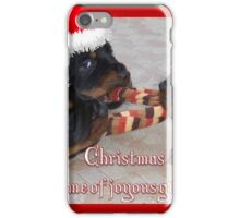 Christmas Rottweilers: A Time Of Joyous Giving  iPhone Case/Skin