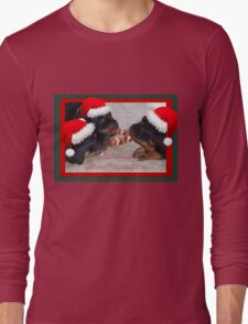 Christmas Rottweilers: A Time Of Joyous Giving  Long Sleeve T-Shirt