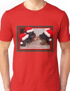 Christmas Rottweilers: A Time Of Joyous Giving  Unisex T-Shirt