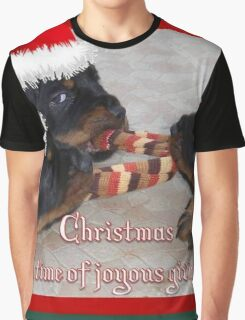 Christmas Rottweilers: A Time Of Joyous Giving  Graphic T-Shirt