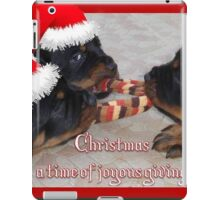 Christmas Rottweilers: A Time Of Joyous Giving  iPad Case/Skin