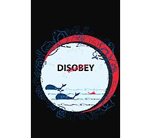 Disobey whale in Ocean Photographic Print
