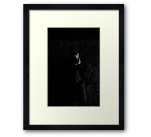 1930s look. Man in a park Framed Print