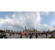 Shanghai Populous 180 Degree Photographic Print