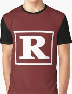 Rated R - In White Print Graphic T-Shirt