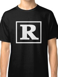 Rated R - In White Print Classic T-Shirt
