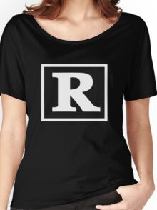 Rated R - In White Print Women's Relaxed Fit T-Shirt