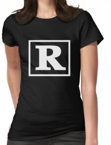 Rated R - In White Print Womens Fitted T-Shirt