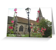 Christmas card - pretty English village church scene Greeting Card