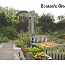Christmas card - Lindisfarne Gospel Garden by BronReid