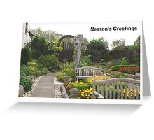 Christmas card - Lindisfarne Gospel Garden Greeting Card