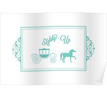 Giddy-Up Extra Fancy Horse and Carriage Poster