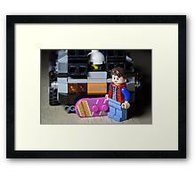 Marty Gets the Hoverboard out Framed Print