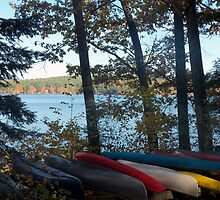 Canoes in New Hampshire by Kerry Cillo