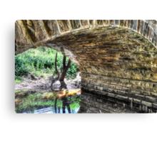 Under Hughes Creek Bridge Canvas Print