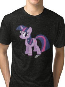 Bring that pony down! - color Tri-blend T-Shirt