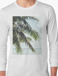 Palm Tree Vintage Long Sleeve T-Shirt