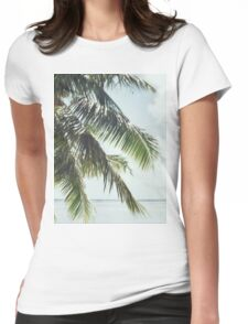 Palm Tree Vintage Womens Fitted T-Shirt