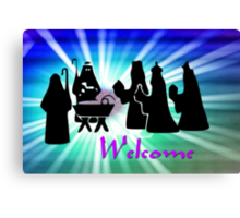 The Arrival of the Three Wise Men - Welcome Canvas Print