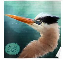Bird Notes: Dance with Your Nature Poster
