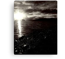 Oil rig in Cromarty Firth Canvas Print