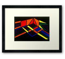 Crepuscular Perspective. Framed Print