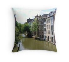 Dutch Canals and Architecture Throw Pillow