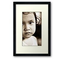 Balinese Girl Framed Print