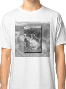 Barron Falls in Black and White Classic T-Shirt