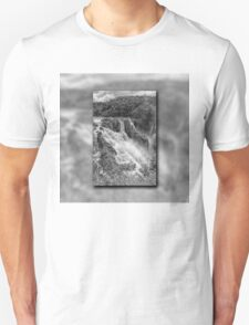 Barron Falls in Black and White T-Shirt