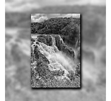 Barron Falls in Black and White Photographic Print