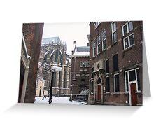 Historic Winter Wonderland Greeting Card