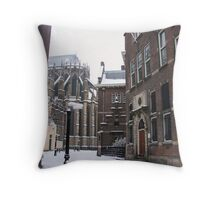 Historic Winter Wonderland Throw Pillow