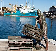 Fisherman Sculpture by pennyswork
