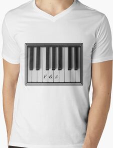 F&A Piano Keys Mens V-Neck T-Shirt