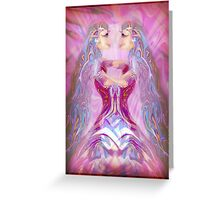 Love within a mystical Consciousness Greeting Card