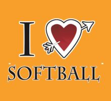 i love softball heart by tia knight