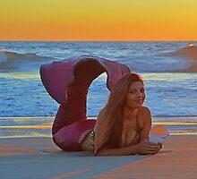 Sunset Mermaid by AlynnArts