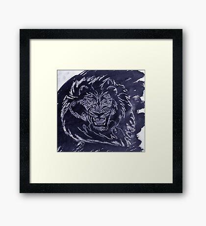 """""""Untamed Blue""""  by Carter L. Shepard Framed Print"""