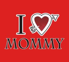 i love mommy heart Kids Clothes
